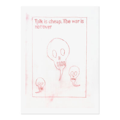 Daniel Richter, 'Untitled (Talk is cheap. The war is not over)', 2013