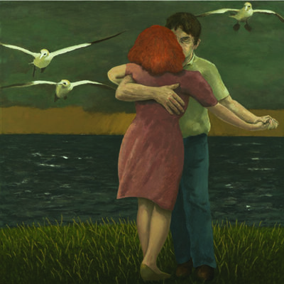 David Inshaw, 'Dancing Couple (with gannets)', 2011