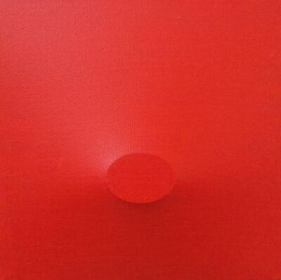 Turi Simeti, 'Un Ovale Rosso', 2015