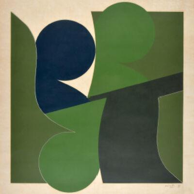 Luis Wells, 'Sin título (Composición Verde)', ca. 1970