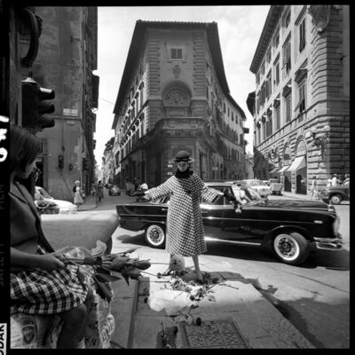 Brian Duffy, 'Girl with Mercedes, Florence', 1962