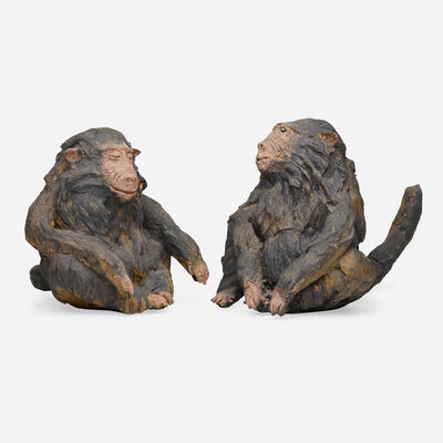 David Gilhooly, 'Pair of Baby Baboons', 1969