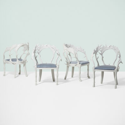 Anthony Redmile, 'European Fallow Horn chairs, set of four', c. 1980