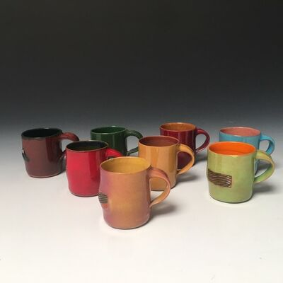 Ken Price, 'Mezcal Cups (from Happy's Curios Series) (Set of 8)', 1975
