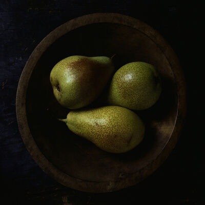 Paul Cary Goldberg, 'Still Life with Three Pears and Wooden Bowl', 2014