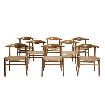 Hans Jørgensen Wegner, 'Set of eight Cow Horn Chairs', 1952