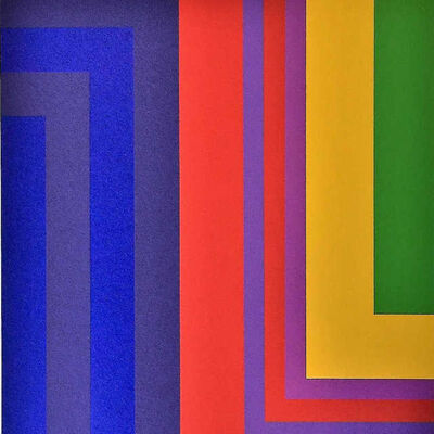 Howard Mehring, 'Untitled L-Form Work (in Blues, Red, Yellow, and Green)', 1950