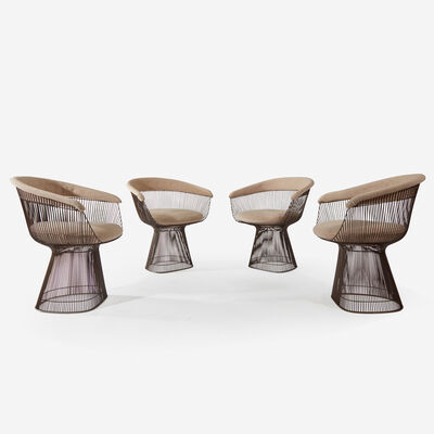 Warren Platner, 'Set of Four Armchairs, Knoll International'
