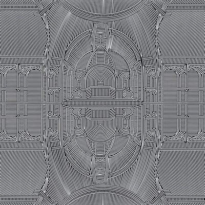 Lu Xinjian 陆新建, 'Relfections - Grand Palais', 2017