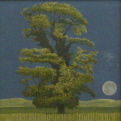 David Inshaw, 'Sycamore Tree and Moon', 2017