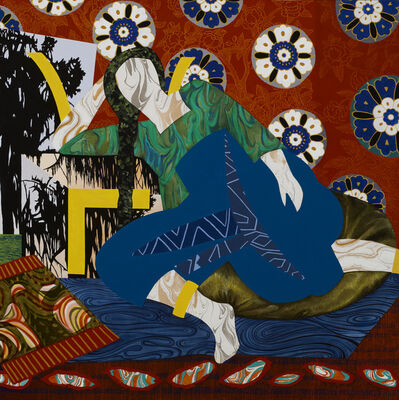 """Dinorá Justice, 'Portrait Fifteen - after Matisse's """"Odalisque with Turkish Chair 1928""""', 2018"""
