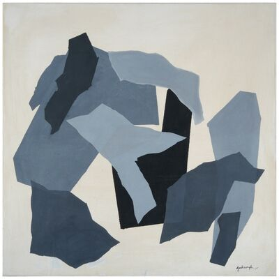 "Robert Goodnough, '""Grey Forms""  ', 1965"
