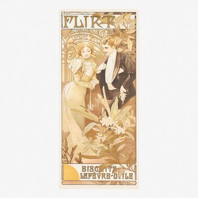 Alphonse Mucha, 'Flirt', 1899
