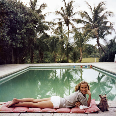 Slim Aarons, 'Having a Topping Time, 1959: Socialite Alice Topping relaxing poolside in Palm Beach', 1959
