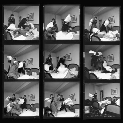 Harry Benson, 'Beatles Pillow Fight Times Nine, Paris', 1964