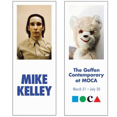 "Mike Kelley, 'Rare Mike Kelley MOCA Museum Exhibition Used and Professionally Cleaned Double Sided Street Banner, ""Beige and White Bear""   Original Banner, HOLIDAY SALE TAKE 20% OFF NEXT THREE WEEKS', 2014"