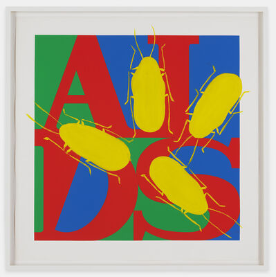 General Idea, 'Untitled (AIDS with Yellow Cockroaches)', 1993