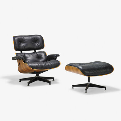 Charles Eames, 'Lounge chair and ottoman (no. 670 and 671), Zeeland, MI'