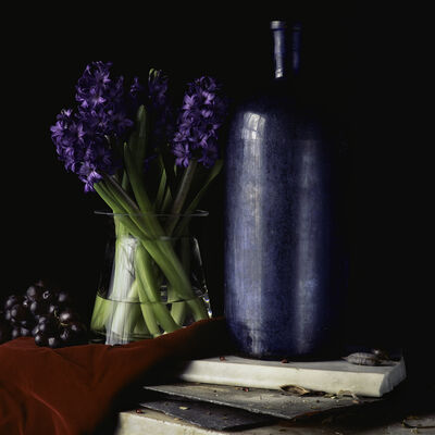 Paul Cary Goldberg, 'Still Life with Hyacinth and Grapes'