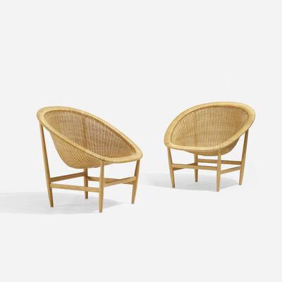 Nanna Ditzel, 'Lounge Chairs, Pair', 1950