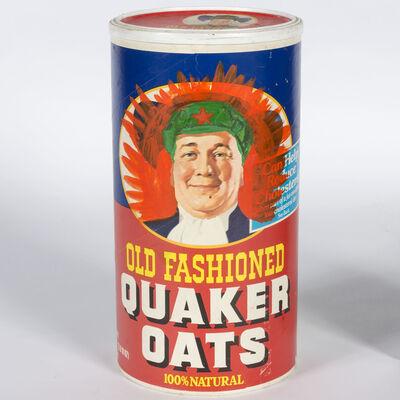 Zhang Hongtu, 'Mao's Quaker Oats Box #2', 1989
