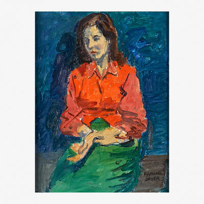 Raphael Soyer, 'Seated Woman in a Red Blouse'