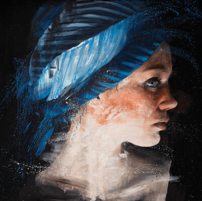 Roberta Coni, 'Diletta profile with Blue Turban', 2019