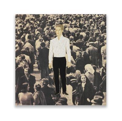 Stephan Balkenhol, 'Männerrelief mit weißem Hemd und schwarzer Hose (Relief man with white shirt and black trousers) ', 2015