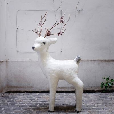 Clémentine de Chabaneix, 'Large fawn with branches', 2018