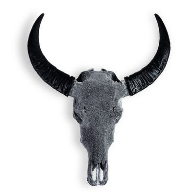 Angela Morris-Winmill, 'Chinese Water Buffalo Skull – All Black on White – Small', 2018