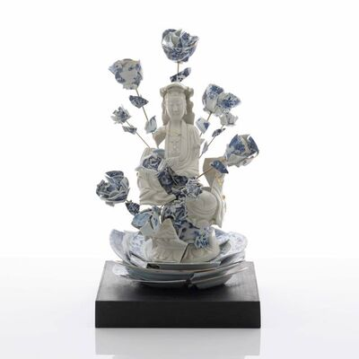 Bouke de Vries, 'Fragmented Guan Yin with Flowers', 2017