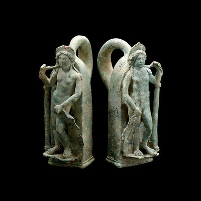 Unknown Roman, 'Pair of Roman Bronze Chariot Handles in the Form of Venus', 1st Century AD to 3rd Century AD