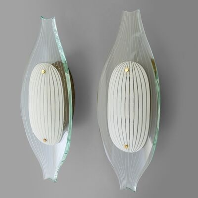 Max Ingrand, 'A pair of wall lights  '2340' model', 1965