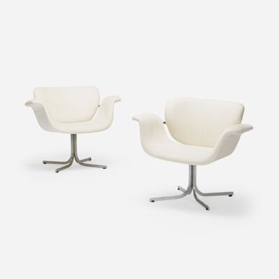 Pierre Paulin (1927-2009), 'Tulip Armchairs, Pair', 1956