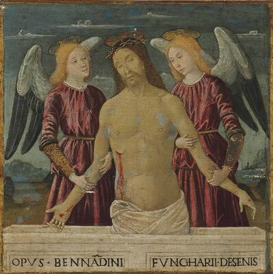 Bernardino Fungai, 'Christ Supported by Two Angels'