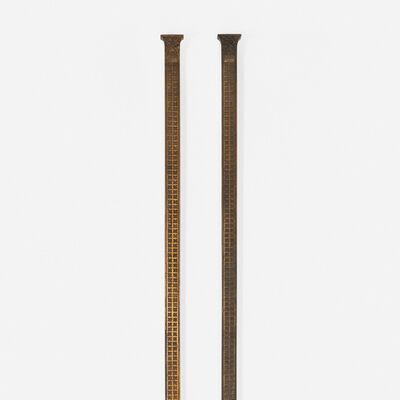 Dankmar Adler, 'elevator pilasters from the Chicago Stock Exchange, pair', 1893