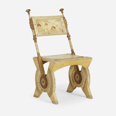Carlo Bugatti, 'side chair', c. 1904