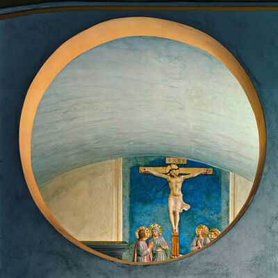 Robert Polidori, 'Crucifixion with the Virgin and Sts Cosmas, John the Evangelist and Peter Martyr by Fra Angelico', 2010