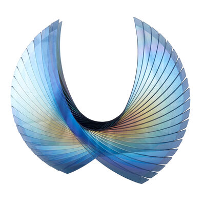 Tom Marosz, ' 'Wings Dichroic Blue', Fused, Cut and Polished Dichroic Glass Sculpture', 2017
