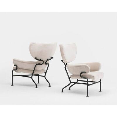 Franco Albini, 'Tre Pezzi pair of lounge chairs ', 1957