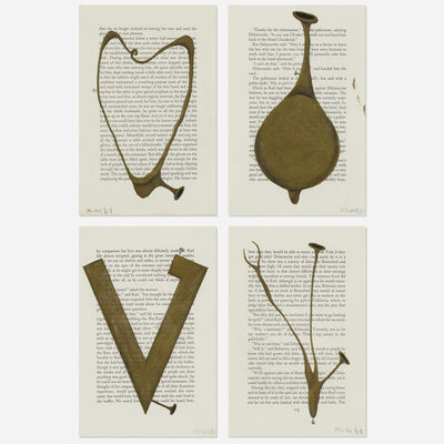 Tim Rollins, 'Untitled (Study for Amerika Series) (four works)', 1988