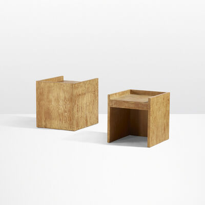 Rudolph Schindler, 'pair of stools from the Gingold Residence, Los Angeles', c. 1943