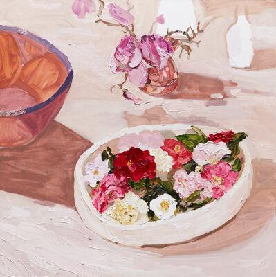 Laura Jones, 'Bowl of Camelias', 2015