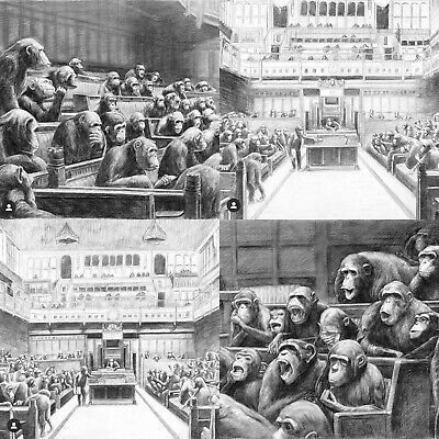 Mason Storm, 'Parliament I, II, III & IV (FULL SET of the 4 sketches for the Devolved Parliament)', 2021