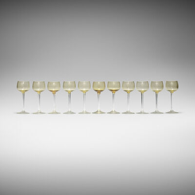 Maxim's de Paris, 'Rhine wine glasses, set of eleven'