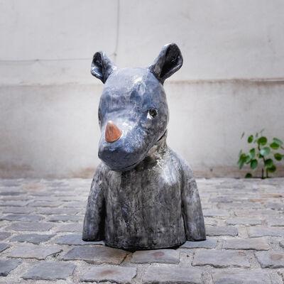 Clémentine de Chabaneix, 'Rhinoceros bust', 2018