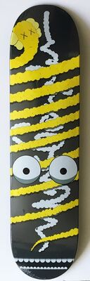 KAWS, 'Yellow Snake (Limited Edition, Numbered) Skate Deck', 2005