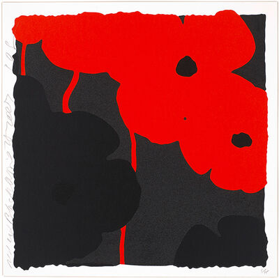 Donald Sultan, 'Red and Black', 2007
