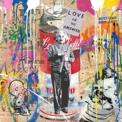 Mr. Brainwash, 'Einstein - Love Is The Answer', 2018