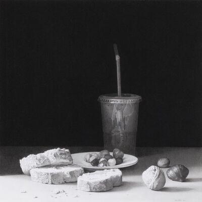 Josep Santilari, 'Kiwi juice, bread and nuts', 2013